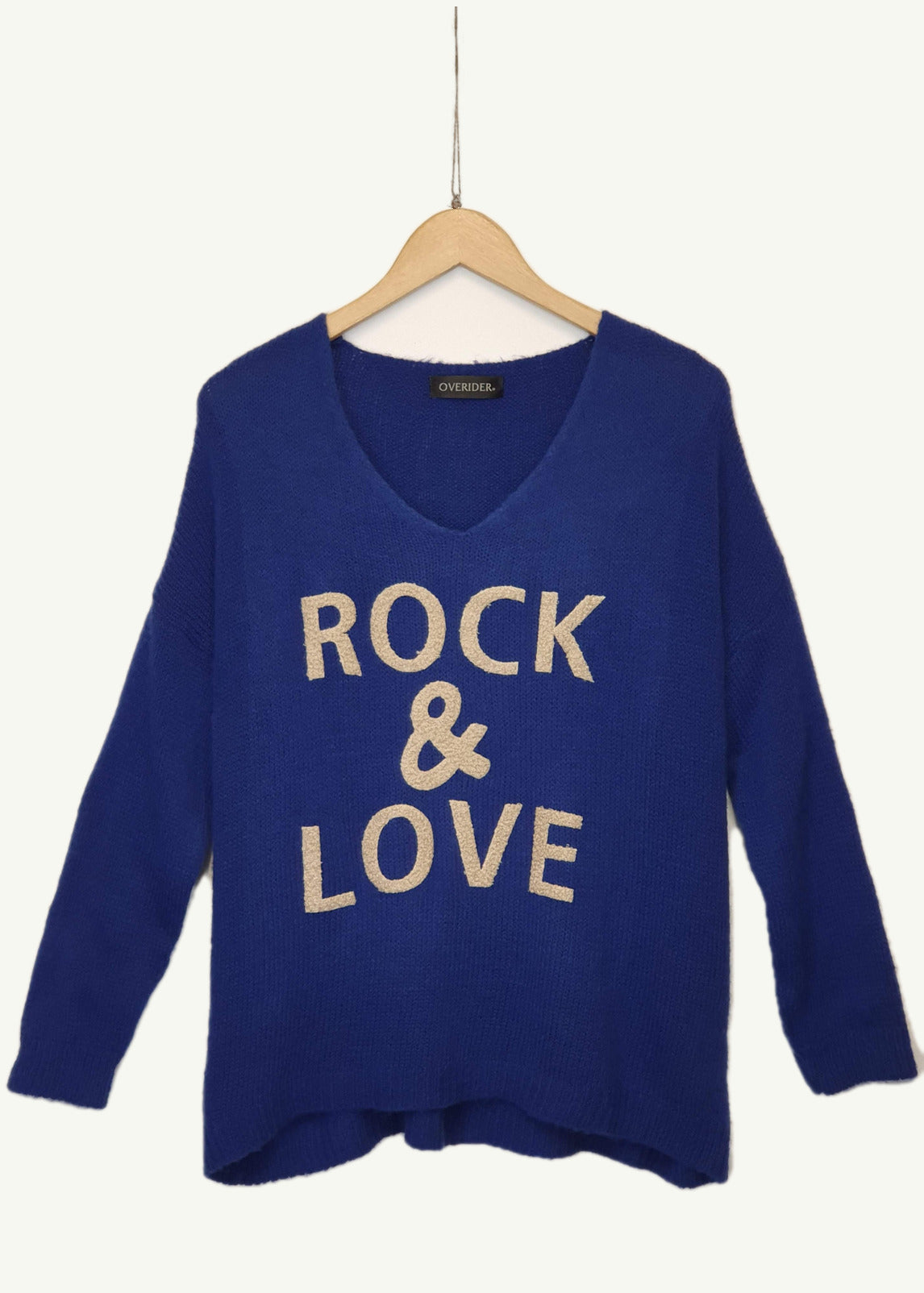 ROCK AND LOVE  - Knitted Jumper - Blue