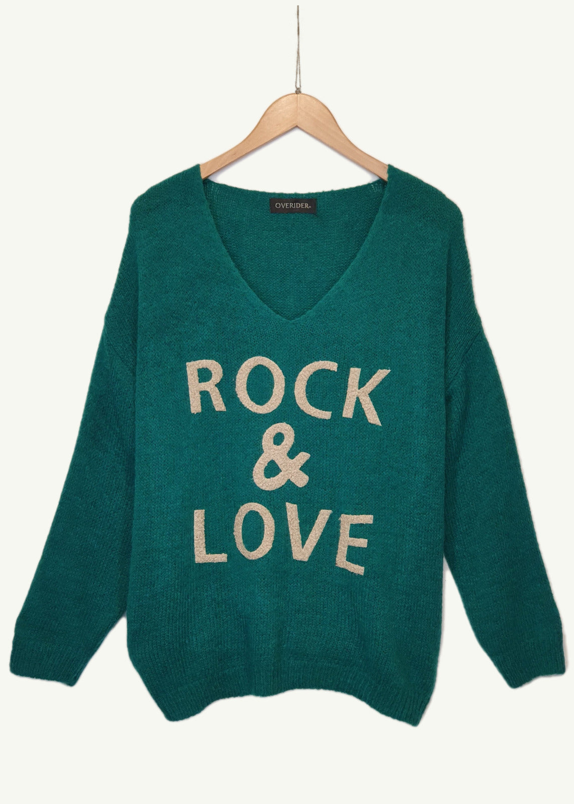 ROCK AND LOVE  - Knitted Jumper - Green