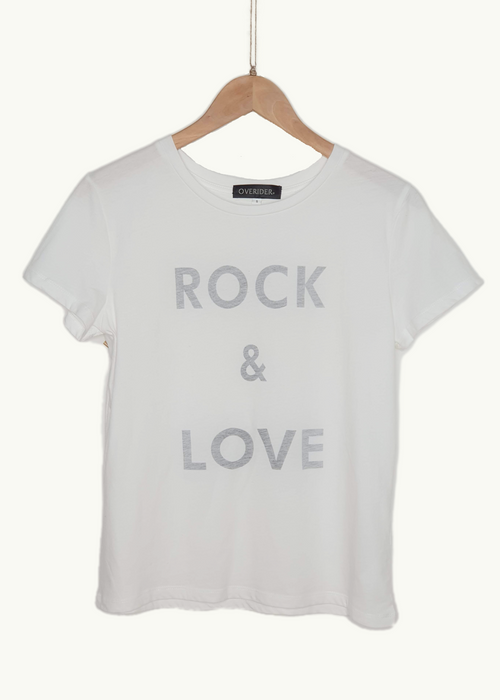 ROCK AND LOVE - Logo T-shirt - White