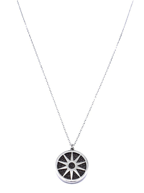 ANAIS - Necklace - Silver & Black