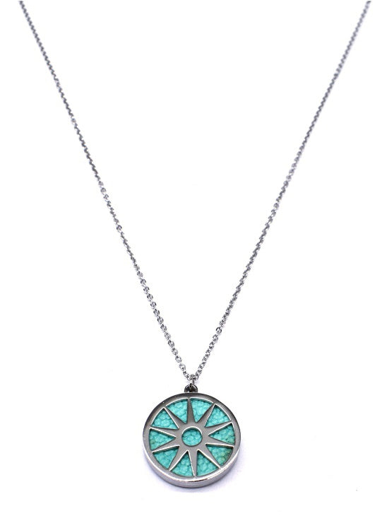 ANAIS - Necklace - Silver & Mint