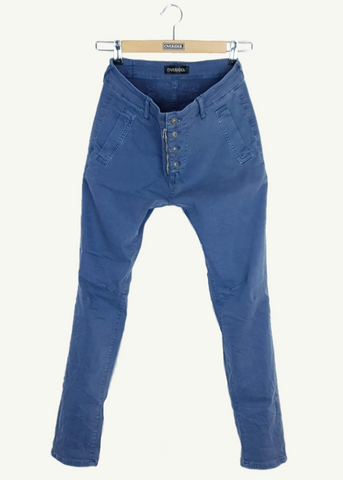 INGA - Skinny Jeans with Zip and Button - Stone