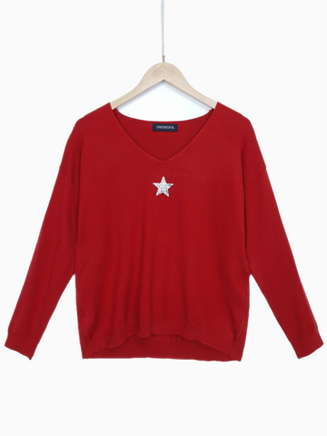 SMALL STAR - Embellished Jumper - Black