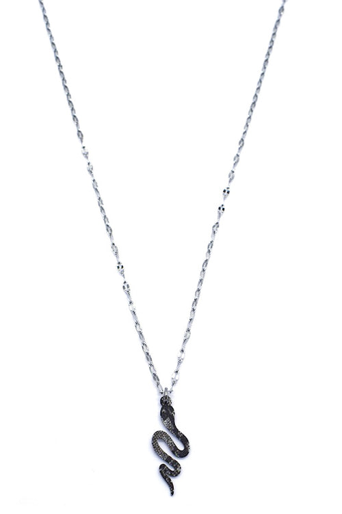 Cobra Necklace | Silver