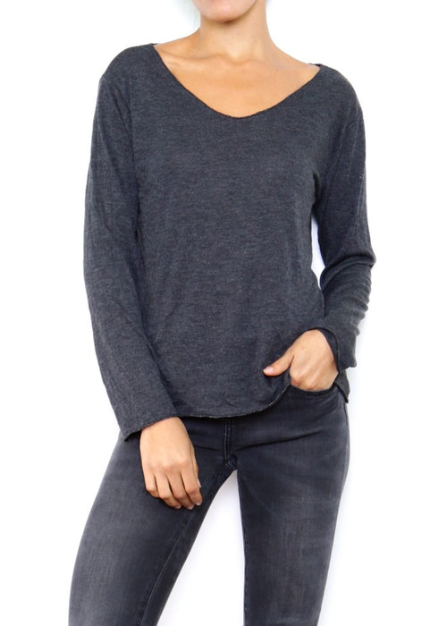 SOPHIE - Fine Knit Top - Anthracite