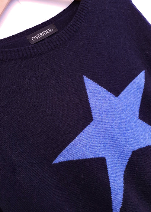 STAR - Cashmere Blend Jumper - Navy/Blue