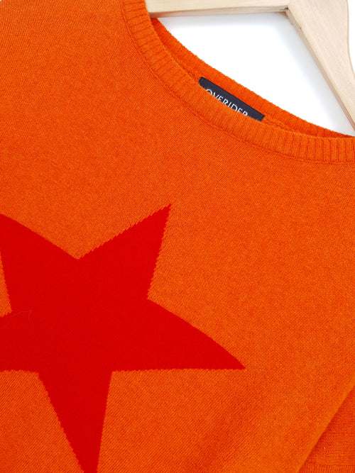 STAR - Cashmere Blend Jumper - Orange/Red