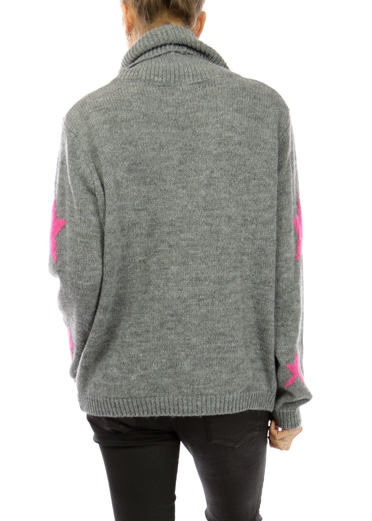 STELLA - Star Roll Neck Jumper - SOLD OUT
