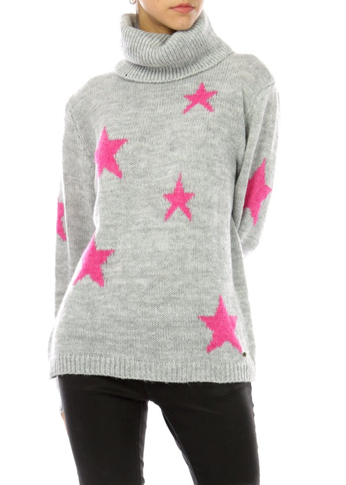STELLA - Star Roll Neck Jumper