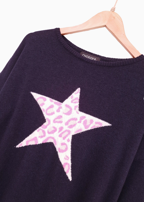 ANIMAL STAR - Cashmere Blend Jumper - Navy