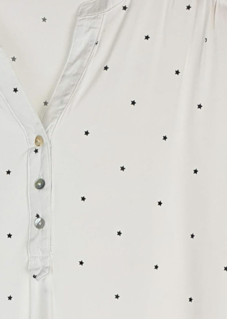APOPHIS - Star Patterned Shirt - White