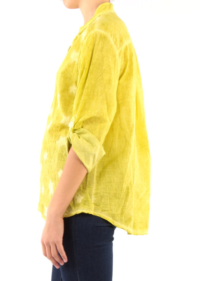 STELLA - Embroidered Star Shirt - Yellow