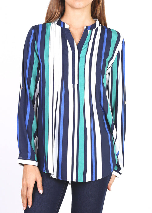 CAMILLE- Striped Pattern Blouse