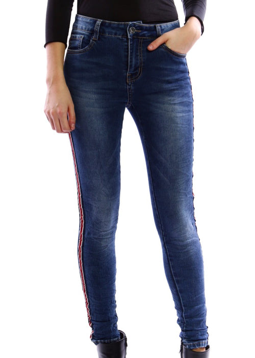 IINES  Skinny Jeans - Red/White Stripe