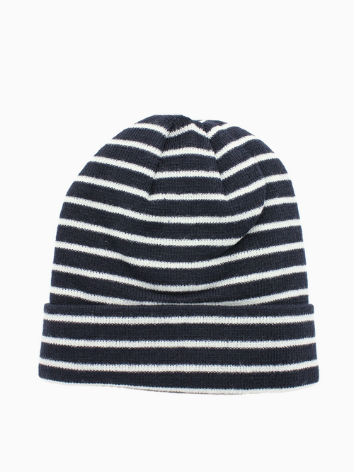 MIA | Striped Knitted Beanie | French Navy