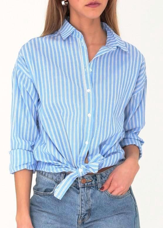 DAISY - Striped Cotton Shirt