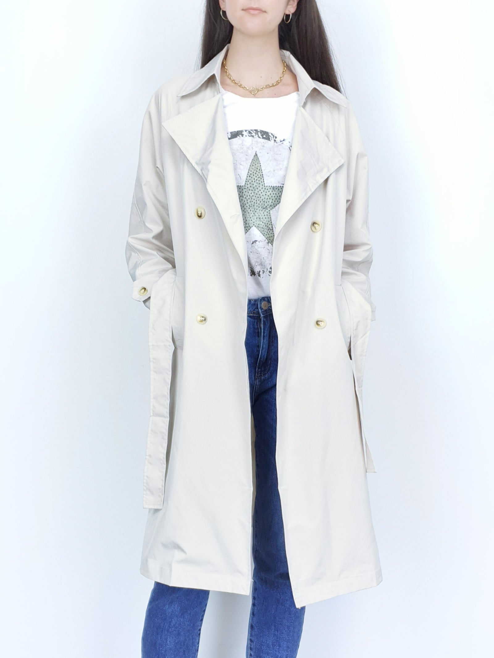 NEW | MIA | Summer Trench Coat | Ecru