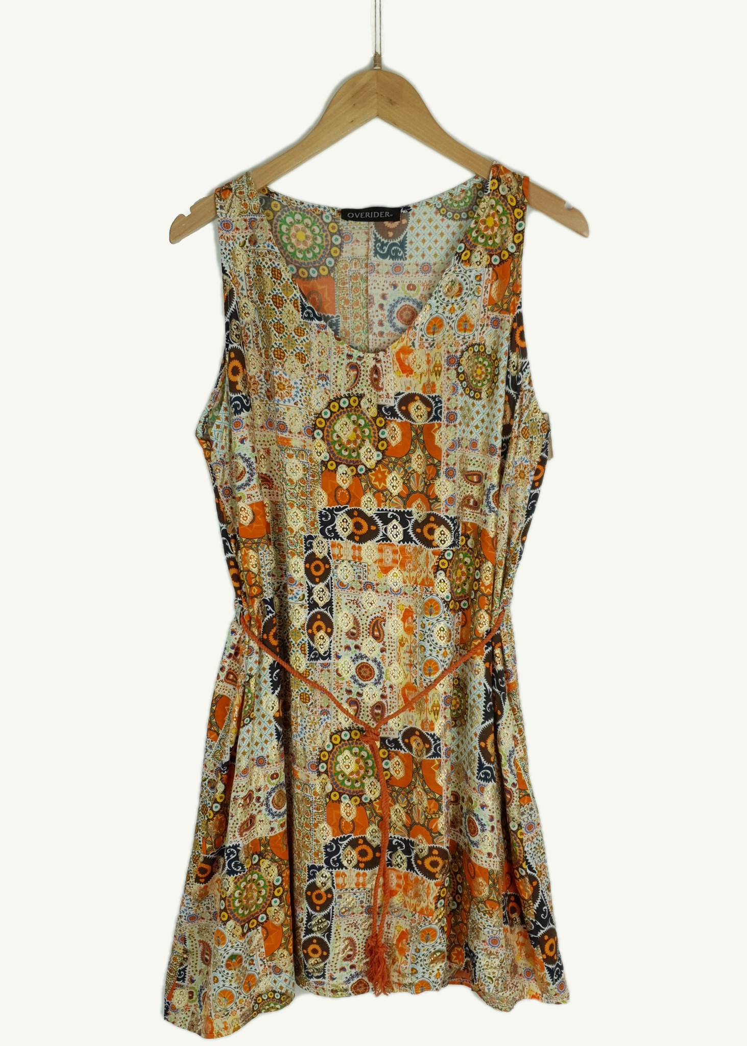 SASHA - Summer Tunic Dress - Orange