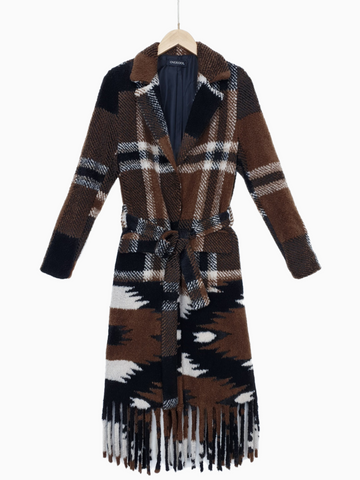 NADYA | Wool Plaid Coat | Black