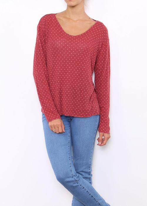 LUCIA - Fine Knit - Red- SOLD OUT