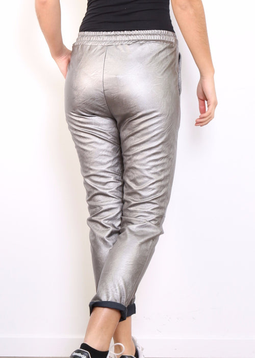 MILLIE - Metallic Slouch Pants