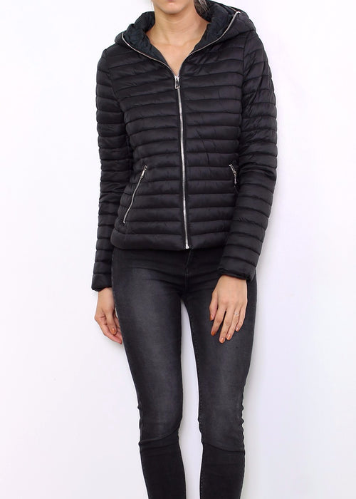 LAUREN - Quilted Jacket - Black