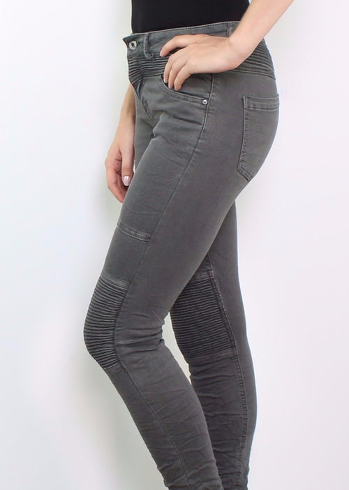 VLADA Biker Jeans - Anthracite - SOLD OUT