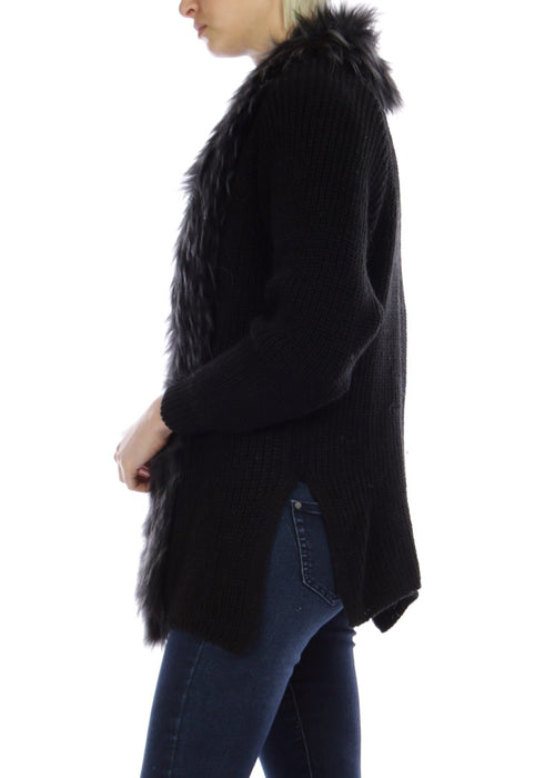 JENA - Fur Collar Cardigan