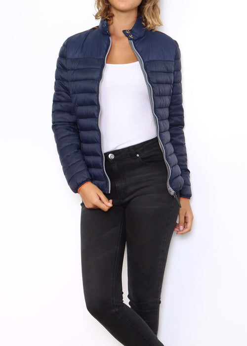 JENA - Quilted Jacket - Ink Blue