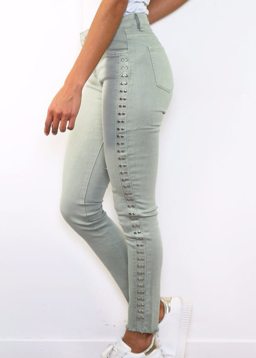 MARIAN - Studded Jeans - Linden