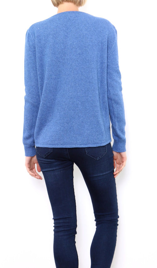 CARMEN - Pineapple Crew Jumper - Blue