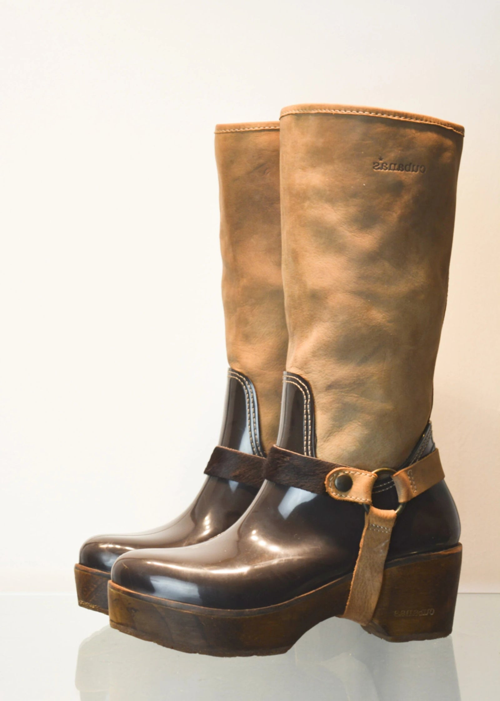PREWORN | Preloved - 'CUBANAS' Tribal Wellies - Size 5 UK (38)