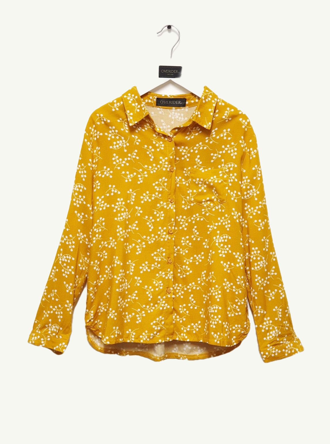 SABINE - Girls Floral Shirt - Ochre