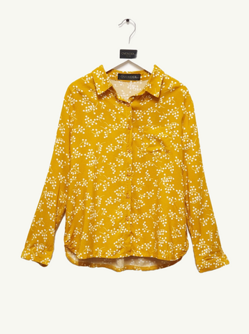 STELLA - Girls Star Sweatshirt - Yellow