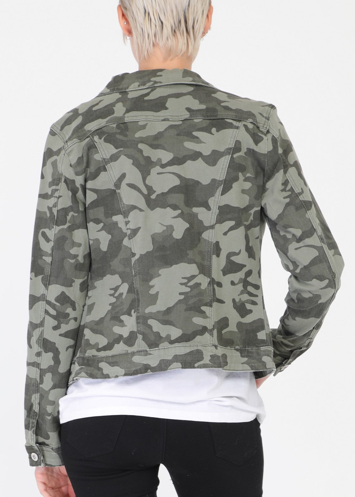 RAPHAELLE - Cotton Jacket - Camoflauge
