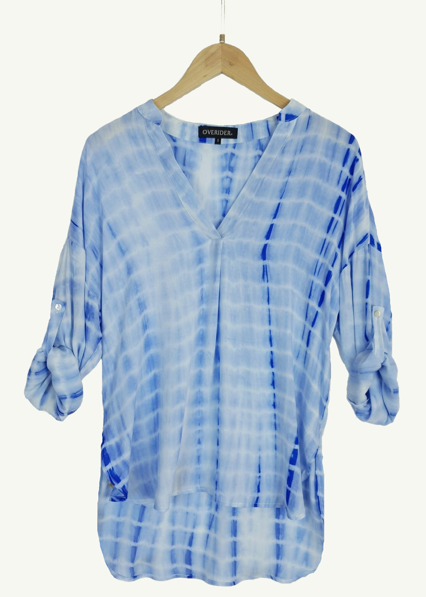 CAROLA - Watermark Summer Shirt - Blue