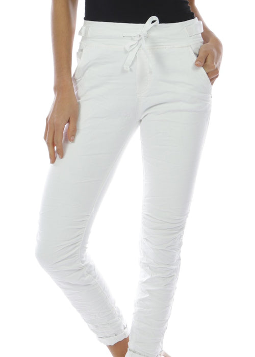 SOFIA- Pull-on Jeans - Pure White