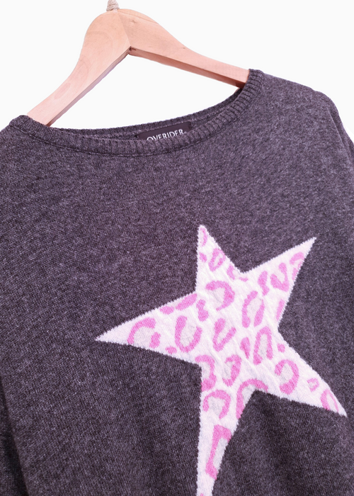 ANIMAL STAR - Cashmere Blend Jumper - Charcoal