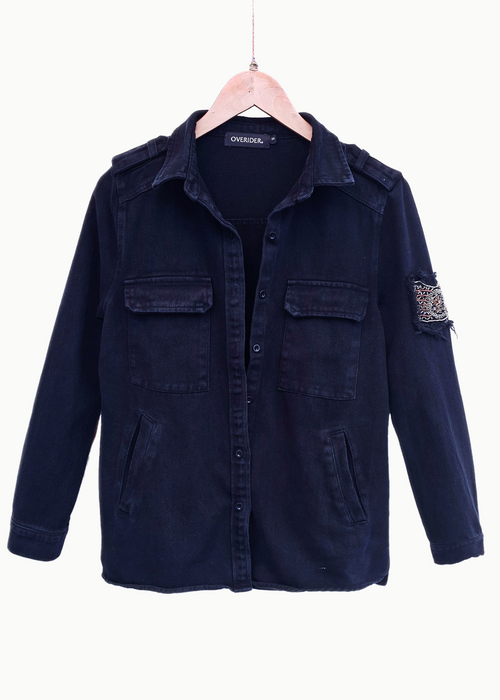 SZOFI | Denim Overshirt | Washed Black