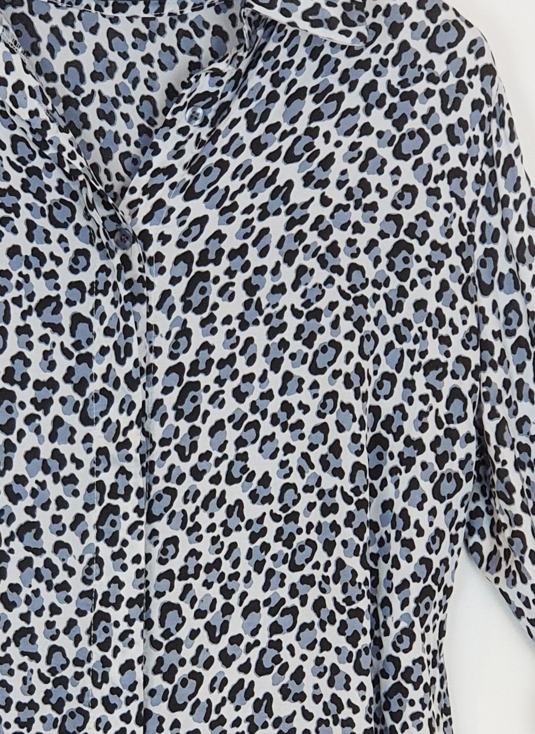 MADELYN - Animal Print Silk Blend Blouse