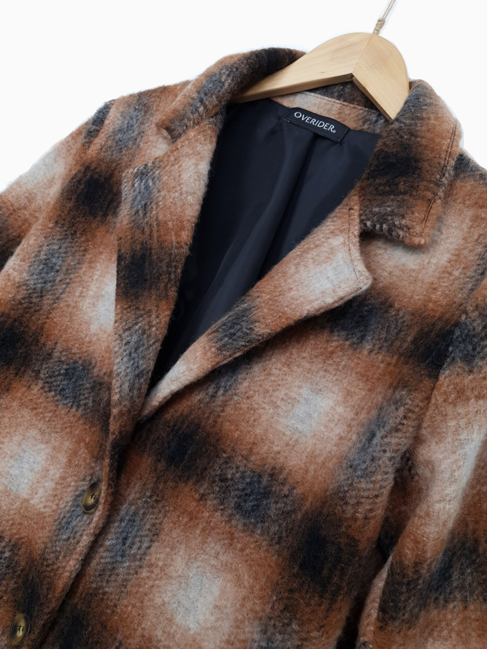 NADYA | Wool Plaid Coat| Ochre