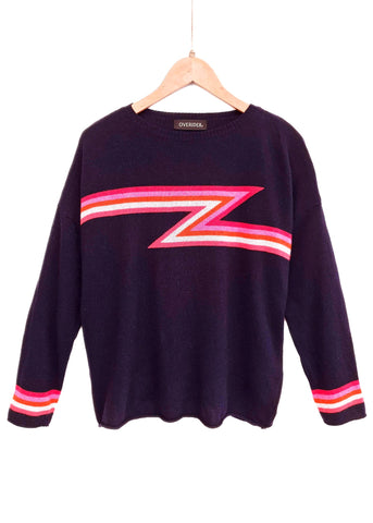 LIGHTNING BOLT - Cashmere Blend Jumper - Grey