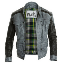 Mens Trete Contemporary Jacket Black & Grey
