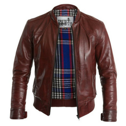 Mens Café Racer Ox-Blood