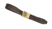 Dark Brown Leather Belt | Gold Buckle