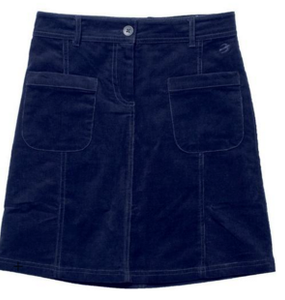 Cord Pocket Skirt Charcoal -001706F17