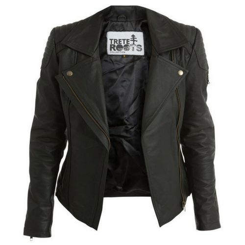 Women's Trete Biker Leather Jacket