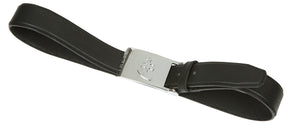 Black Leather Belt | Silver Buckle