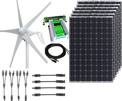 1000W 24V Wind and Solar Hybrid Kit