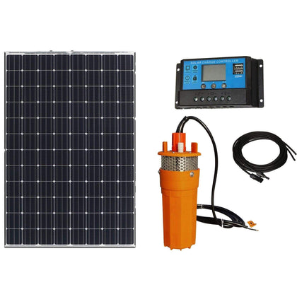 100W 12V 1.6GPM Solar Powered Water Pump with 20A Controller